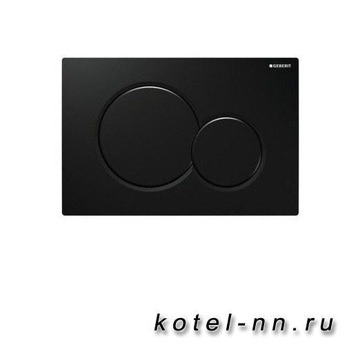 Клавиша смыва Geberit Sigma 01, двойной смыв, черная