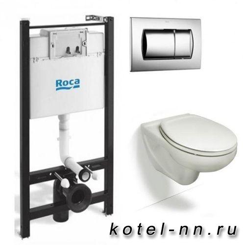 Комплект Roca Victoria ПЭК инсталляция + унитаз + сиденье + кнопка