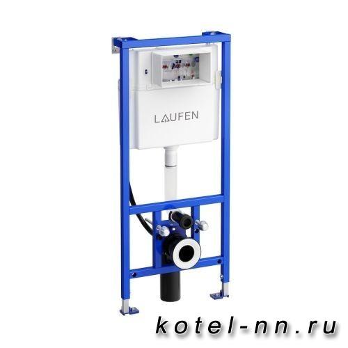 Инсталляция для унитаза Laufen LIS CW2 с бачком для подвесного унитаза, система двойного смывания 6/3 л, регулируемая до 4,5/3 л ДЛЯ RIVA