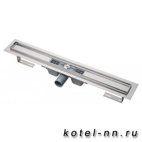 Водоотводящий желоб Alcaplast с порогами для перфорированной решетки горизонтальный сток, 300 мм