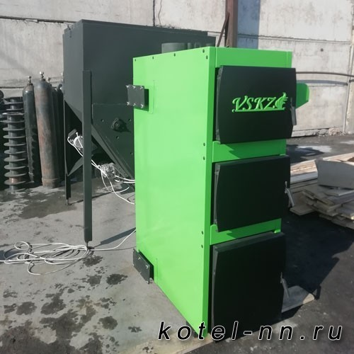 Твердотопливный котел VSKZ GREENTERMIT 200 (для щепы и опилок)