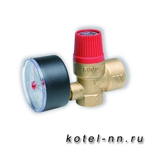 """Клапан предохранительный STOUT SVW 1/2"""" / 2,5 бар, для систем отопления (красная крышка)"""