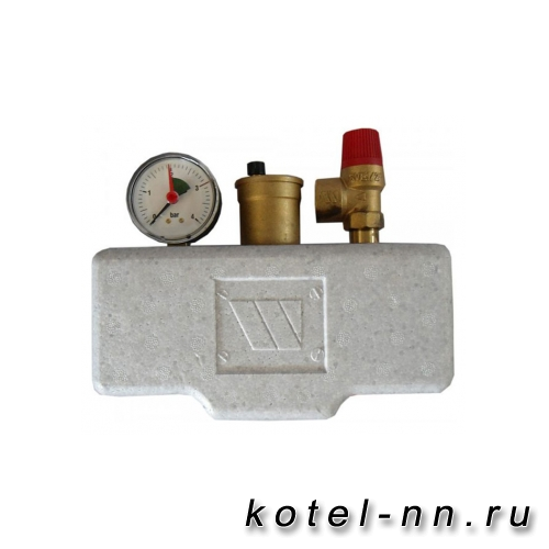 Группа безопасности котла Stout (до 50 кВт) (в теплоизоляции) 1 дюйм.