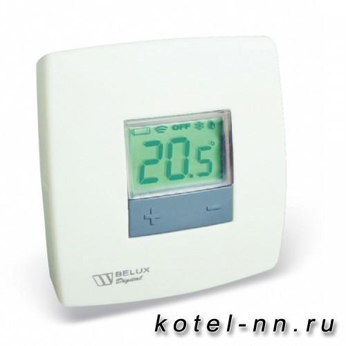 Комнатный проводной термостат Stout BELUX DIGITAL с цифровым дисплеем