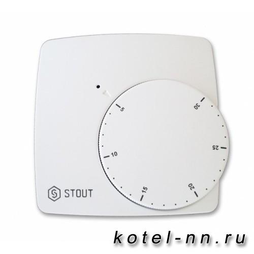 Электронный комнатный термостат Stout WFHT-BASIC со светодиодом [Нормально Закрытый]