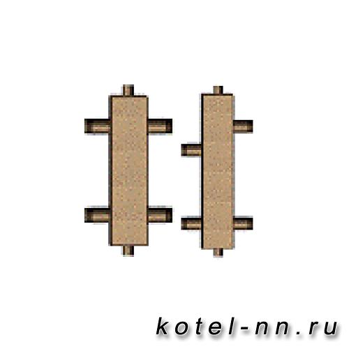 """Гидравлическая стрелка 2"""" НР 1/2"""" ВР, 6 бар, до 110 кВт"""