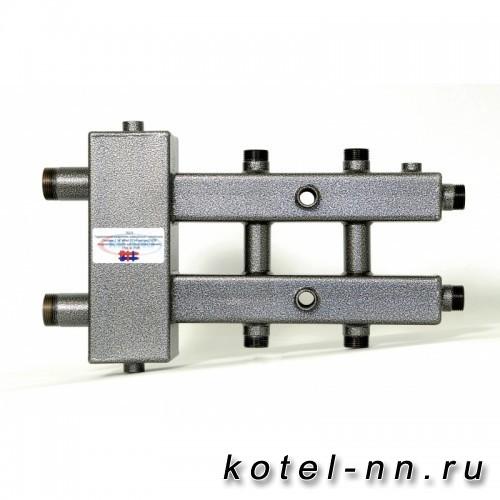 Распределительный коллектор совмещенный с гидравлическим разделителем на 3 контура, арт. ГК3-70
