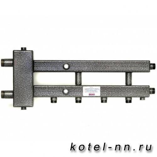 Распределительный коллектор совмещенный с гидравлическим разделителем на 3 контура, арт. ГК2/1-70