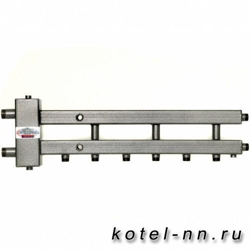 Распределительный коллектор совмещенный с гидравлическим разделителем на 4 контура, арт. ГК4-70