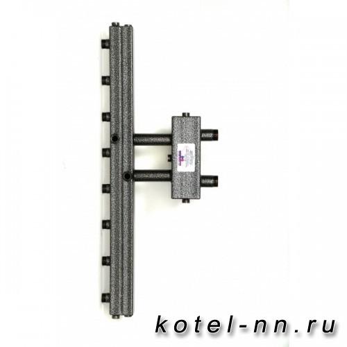 Распределительный коллектор совмещенный с гидравлическим разделителем на 4 контура, арт. ГК4V-70