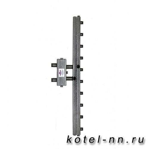 Распределительный коллектор совмещенный с гидравлическим разделителем на 5 контуров, арт. ГК5V-70