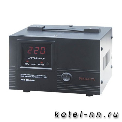 Стабилизатор напряжения АСН-500/1-ЭМ Ресанта 63/1/1