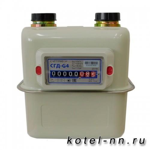 Газовый счетчик Счетприбор СГД-G4 ТК Орел, левый, с термокоррекцией, 114 110мм
