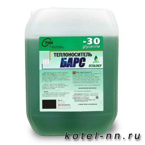 Теплоноситель Барс -30 ECOLOGY EXTREME 10 кг, на основе пропиленгликоля