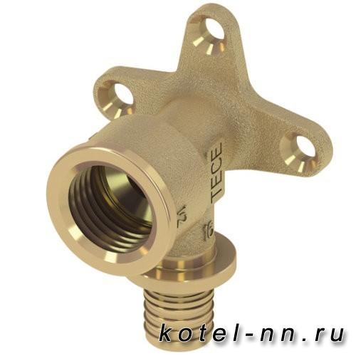 Водорозетка с настенным креплением латунь Tece 16 мм х 1/2 768516