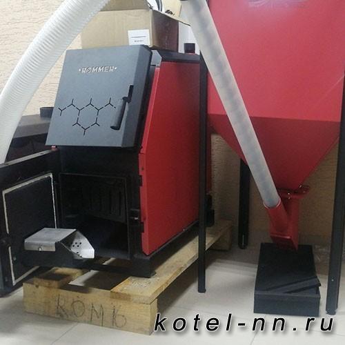 Котел Rommer 21 кВт с пеллетной горелкой и бункером на 200л