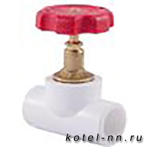 Вентиль РосТурПласт 90° в сборе внутр/внутр 25 арт.10526