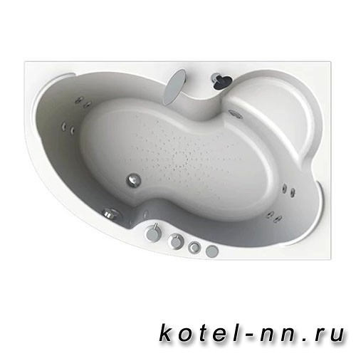 Гидромассажная ванна Радомир (Вахтер) Ирма 160х105 R форсунки хром (3-01-2-2-0-321)