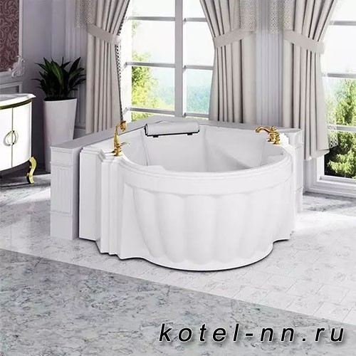 Гидромассажная ванна Радомир (Fra Grande) Монте-Карло-GOLD 149х149, с рамой-подставкой (4-01-3-0-0-402)