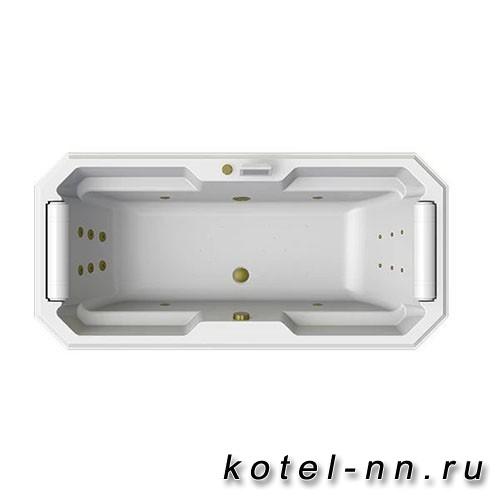 Гидромассажная ванна Радомир (Fra Grande) Фернандо-BRONZE 190х90, на ножках (4-01-4-0-0-422)