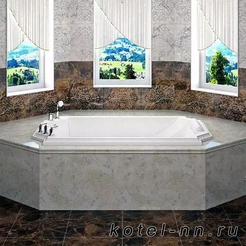 Гидромассажная ванна Радомир (Fra Grande) Эстелона-CHROME 190х110, с рамой-подставкой (4-01-2-0-5-409)