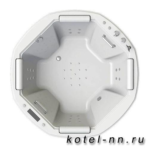 Гидромассажная ванна Радомир (Fra Grande) Фарнезе-CHROME 190х190, с рамой-подставкой (4-01-2-0-6-425)