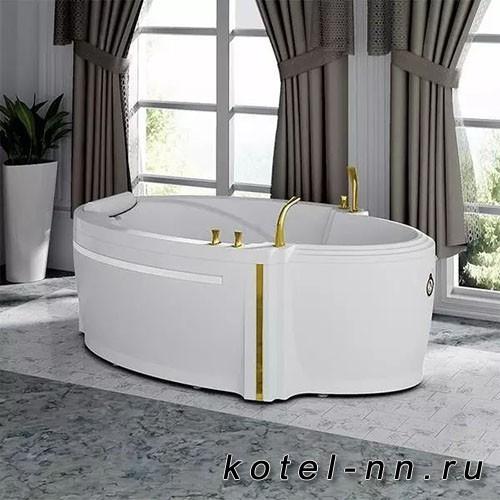 Гидромассажная ванна Радомир (Fra Grande) Ницца-CHROME 190х110, с рамой-подставкой (4-01-2-0-0-406)