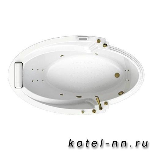 Гидромассажная ванна Радомир (Fra Grande) Ницца-BRONZE 190х110, с рамой-подставкой (4-01-4-0-0-406)