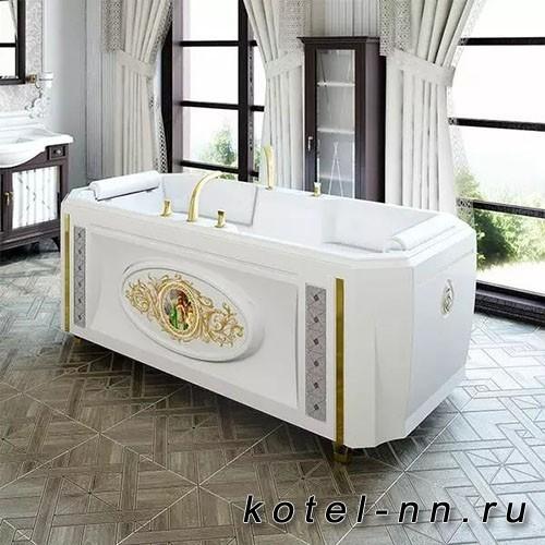 Акриловая ванна Радомир (Fra Grande) Фернандо 190х90, с рамой-подставкой (комплектация золото) (4-01-3-0-1-421)