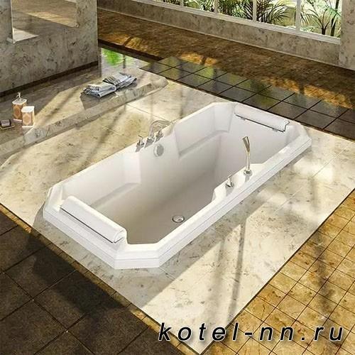 Акриловая ванна Радомир (Fra Grande) Фернандо 190х90, с рамой-подставкой (комплектация хром) (4-01-2-0-1-421)