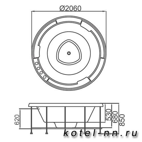 Акриловая ванна Gemy (G9263 K)