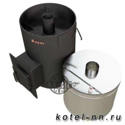Банная печь Варяг Бук 24 (выносной тоннель), бак нержавеющий