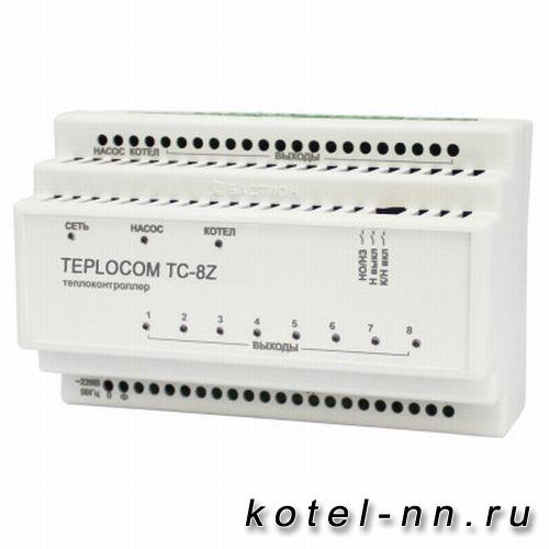 Теплоконтроллер для лучевой системы отопления TEPLOCOM Луч TC-8Z