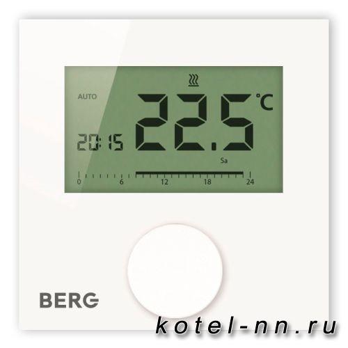 Berg BT50L-FS-230 термостат, цифровой с подсвечиваемым дипсплеем, программируемый, с входом для датчика пола