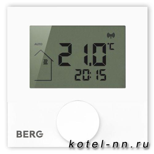 Термостат Berg BT50-iRF-FS беспроводной с дипсплеем, программируемый, программируемый, с входом для датчика пола