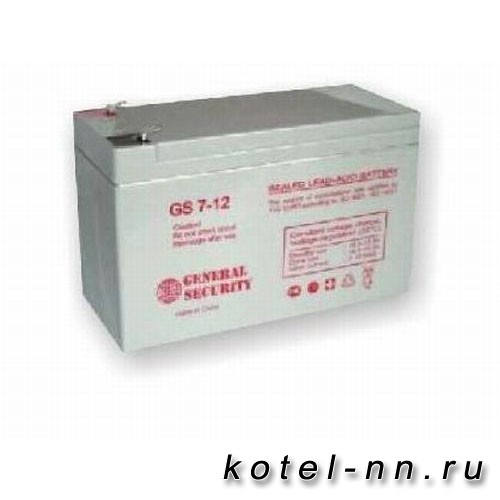 Аккумулятор резервного питания 7A/h GS-7-12