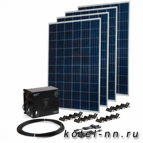Комплект TEPLOCOM Solar-1500 + Солнечная панель 250 Вт х 4
