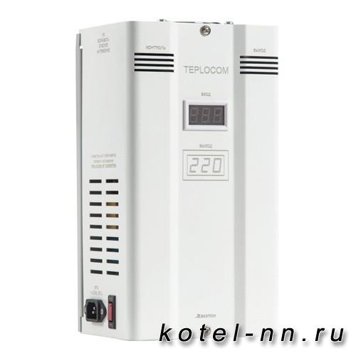 Фазоинверторный стабилизатор для газовых котлов отопления TEPLOCOM ST-1500 INVERTOR