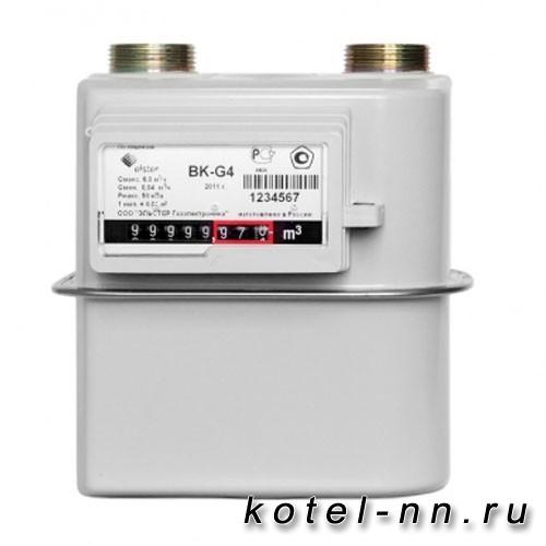 Счетчик газовый Метэко диафрагменный BK-G6 (250) левый
