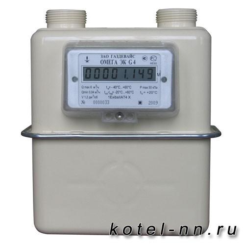 Счетчик газовый Газдевайс Омега G 4 левый