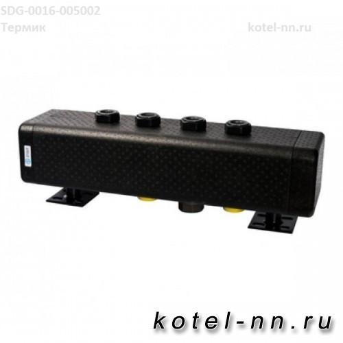 Стальной распределительный коллектор Stout 3 отопительных контура. В теплоизоляции DN 32
