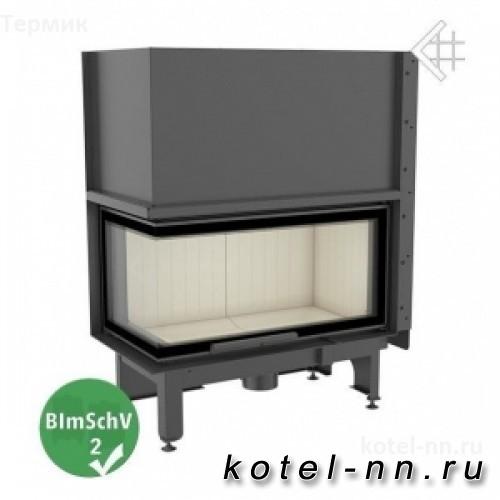 Топка Kratki NADIA/14/L/BS/G, Г-образное стекло слева, гильотина