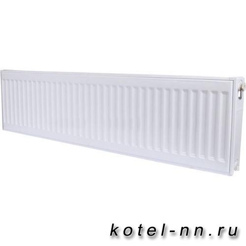 Стальной панельный радиатор ROMMER 22 300х2200 нижнее подключение Ventil